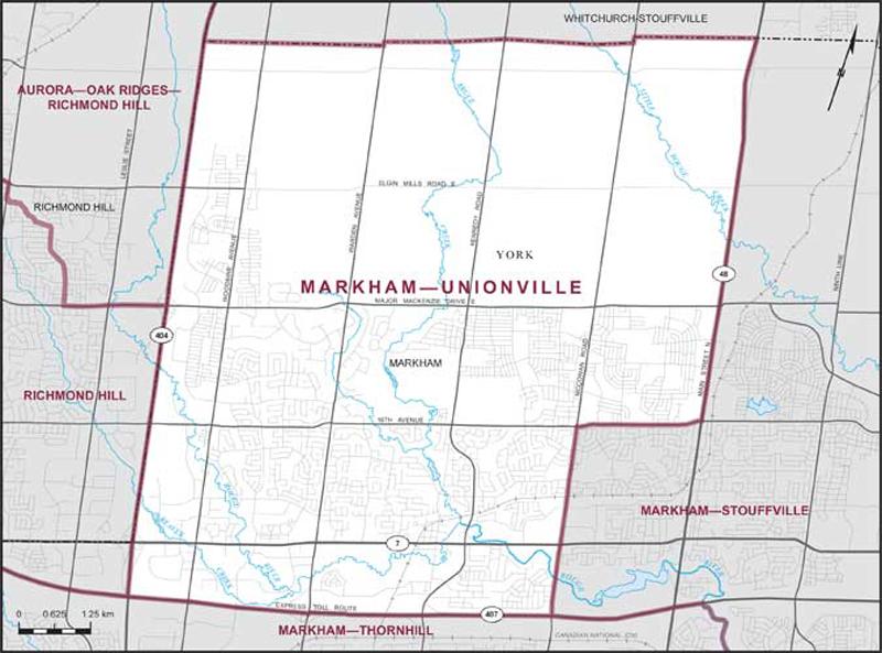 Markham Unionville Map